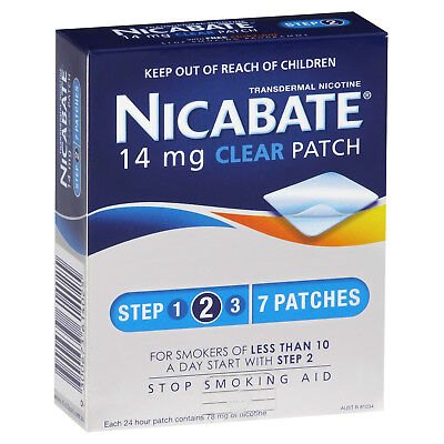 Nicabate CQ Clear 14mg 7 Patches
