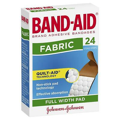 Band Aid Fabric 24 Flexible Sterile Strips Tough Adhesive Bandage Heavy Duty