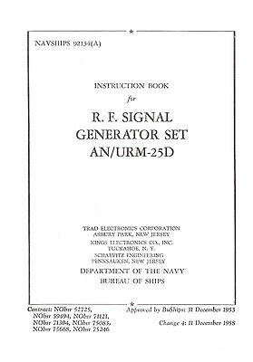 URM-25D Signal Generator Op & Service Manual With Changes 1-4