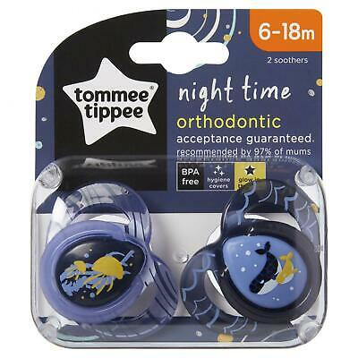 Closer To Nature Night Time Soothers 6-18 Months 2 Pack
