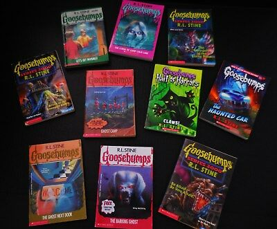 GOOSEBUMPS Books -Lot of (10) Get Invisible Vtg HC, Ghost, Series 2000, By STINE