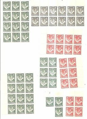British Commonwealth - Mint Blocks of Stamps From Northern Rhodesia.