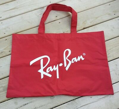 Ray Ban Sunglasses Beach Bag Tote Retro Vintage Collectible Big Red Shopping Bag