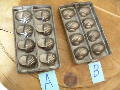 chocolate mold  candy mold  antique mold  snail  2X molds