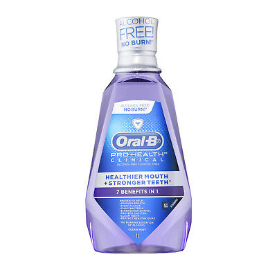 Oral B Pro Health Clinical Clear Mint Mouth Wash 1 Litre