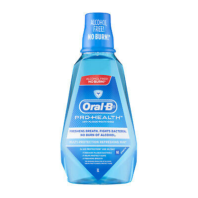 Oral B Pro Health Anti-Plaque Refreshing Mint Mouth Rinse 1L