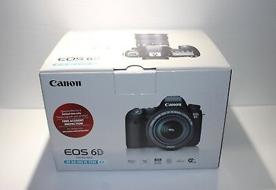 Canon EOS 6D Digital SLR Camera 20.2 MP with 24-105mm f/3.5-5.6 STM Lens NEW!!