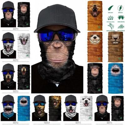 3D Animal Ski Cycling Snowboard Scarf Neck Warmer Face Mask Balaclava Bandana Dc