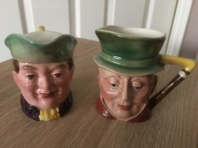 Beswick Small Toby Character Jugs Mr Varden 1204  and Mr Micawber 674