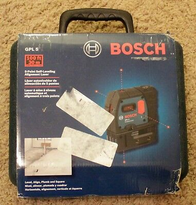Brand New Bosch GPL 5 100 ft 5-Point Self-Leveling Alignment Laser