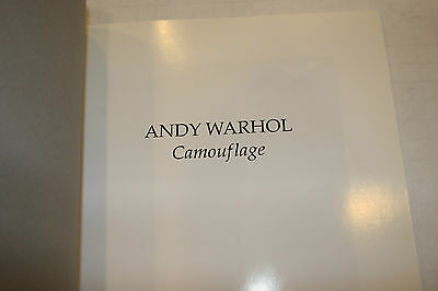 Andy Warhol Camouflage Gagosian Gallery Catalogue 1998 FREE SHIPPING!