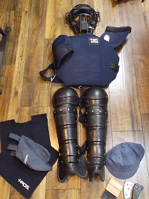 Tag Battle Gear Umpire Protective Gear Set Mask Chest Guard Shin Guards Etc