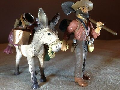 Detailed Gold PROSPECTOR & DONKEY! Schleich 70310: Only Pre-Owned Avail in USA?!