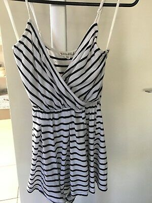 Mooloola Girls Size 10 Striped Playsuit