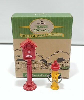 Hallmark Kiddie Car Corner Collection Call Box & Fire Hydrant
