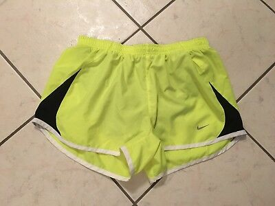 Women's Nike Tempo Dri Fit Yellow and Black Running Shorts, Medium