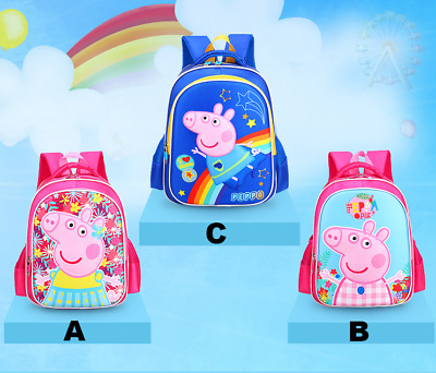 NEW PEPPA PIG 3D BACKPACK PINK BLUE KIDS KID's GIRLS BOYS BAGS SCHOOL