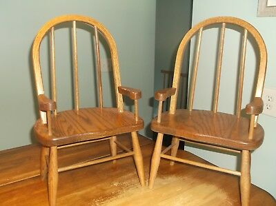 Child Size Wood Chairs - Set of 2 - Matching Pair