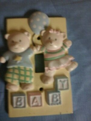 SWITCH PLATE FOR NURSERY BABY BEAR THEMED (pre-owned)