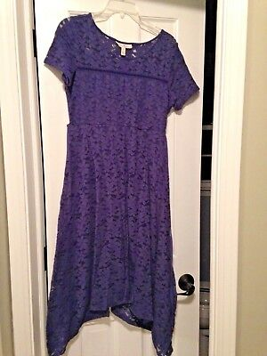 Jessica Simpson Maternity Dress Navy Lace Size Medium