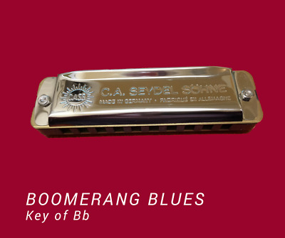 Seydel Boomerang Blues Harmonica - Key of Bb - Free shipping in Australia