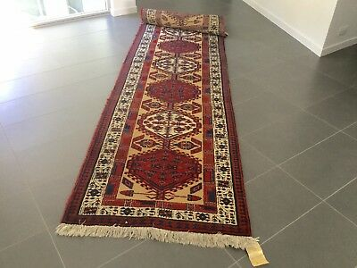 Vintage Persian Hall Runner Floor Rug~Pure Wool