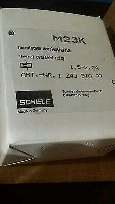 Schiele M23K Thermal Overload Relay Motor Protector 1,5-2,3A (NEW)