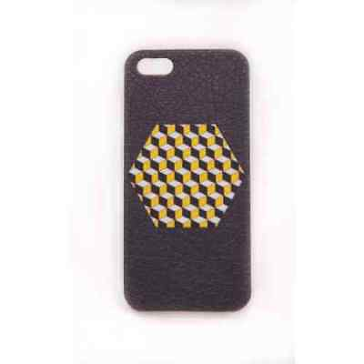Coque iPhone 5C Yellow Cube Meat Japan - Plastique
