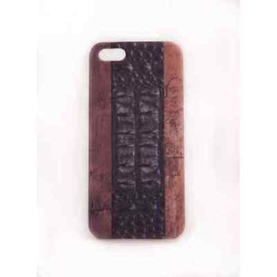Coque iPhone 5C Wood Croco Meat Japan - Plastique