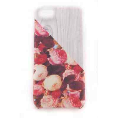 Coque iPhone 5C Wood Rose Meat Japan - Plastique