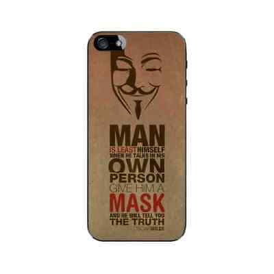 Coque iPhone 5 5S SE Anonymous Plastique ou Silicone - Gel ou Plastique (au choi