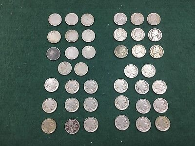US Nickels Coin Lot Buffalo, Jefferson, & V Nickels Mixed Dates