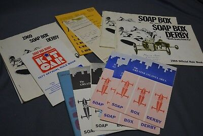 1960's - 70's  Vintage  Chevy Soap Box Derby Manuals & Other Papers Epherma LOT