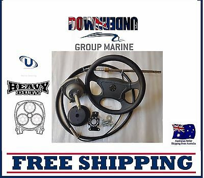 Ultraflex Teleflex compatible Planetary Gear Helm Steering Kits 17ft M66 Cable