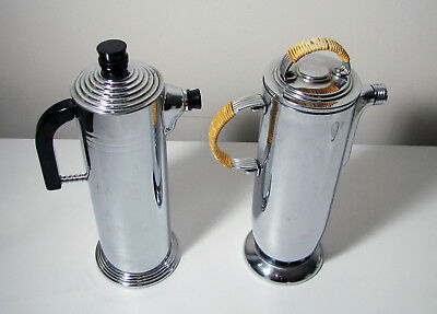 Vintage Cocktail Shakers (2) | Manning Bowman Good Fellowship + LB | Art Deco