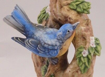 "Bud Hastin Collectors Art: 1971 Porcelain Bird Cologne Container ""Blue Bird"""