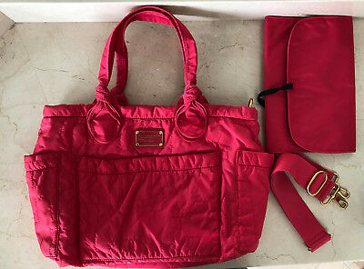 Auth Marc By Marc Jacobs Pretty ElizaBaby Diaper Bag Shopper Tote in Pink