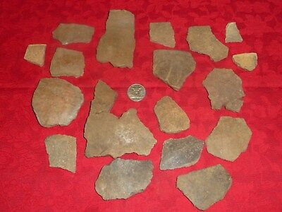 Native American Artifacts Lot Arrowheads Pottery 2