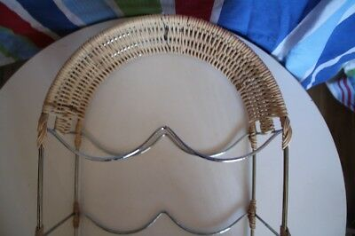 Cane Wicker WINE RACK STAND - Holds 6 Bottles - BRAND NEW - PICKUP CAMPBELLTOWN
