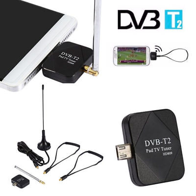 DVB-T2 Handy Micro USB Tuner TV Empfänger Stick+2*AntenneFür Android OS 4.1