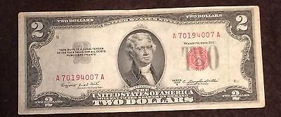 1953 Two Dollar Bill Red Seal Note Randomly Hand Picked VG - Fine FREE SHIPPING!
