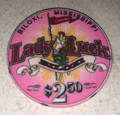 Lady Luck Casino $2.50 Biloxi Mississippi Casino Chip 2.99 Shipping