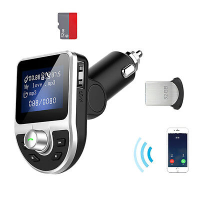 BT39 3.1A LCD Display Bluetooth MP3 Player FM Transmitter Car Phone Charger Kit