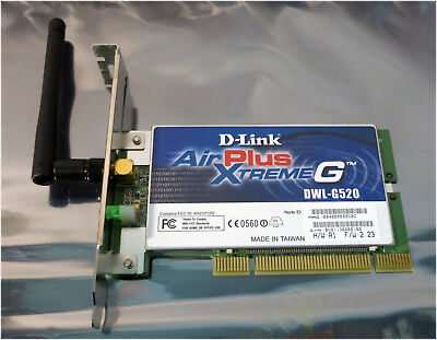 D LINK AIRPLUS XTREME G520 DRIVERS FOR WINDOWS 7