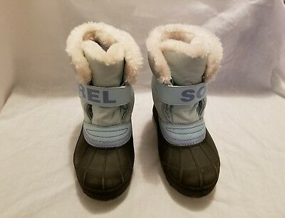 SOREL Toddler Kids Snow Commander Blue Winter Boots Size USA 12 UK 11 EUR 29