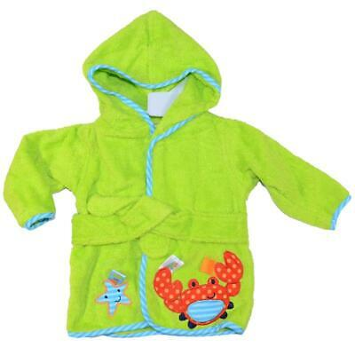 New Superior Quality Baby Boy Hooded Terry Towel baby Bath Robe 0-9 month Crab