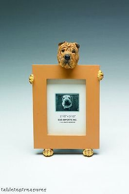 shar pei    brown picture frame   15-96