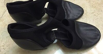 CAPEZIO  PEDINI  Black Used Size 8 Jazz /Lyrical /Teaching Shoe Women's