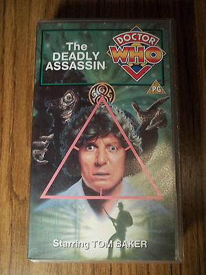 4th Dr Doctor Who The Deadly Assasin VHS VGC Tom Baker The Master Gallifrey