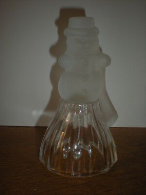 Frosted Snowman Glass Bell JSNY